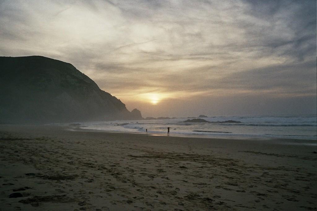Moody sunset surf