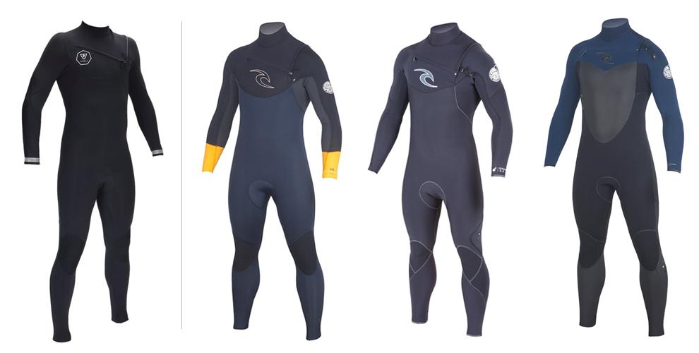 1. VISSLA 7 Seas 4/3 wetsuit black 2. Rip Curl DAWN PATROL 4/3 orange sleeve wetsuit 3. Rip Curl E-BOMB 4/3 wetsuit 3. Rip Curl FLASHBOMB 4/3 blue wetsuit