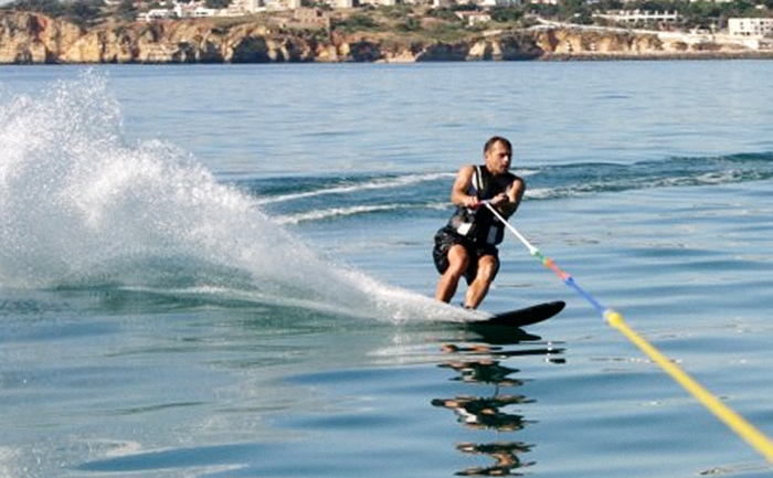 Water skiing in Lagos