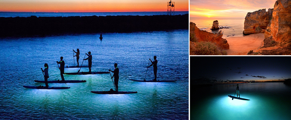 Paddleboarding-night-time