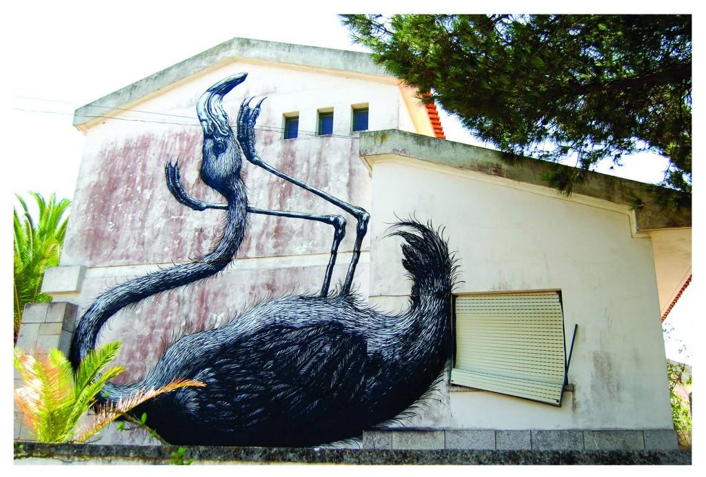 ROA Street Art Flamingo Lagos