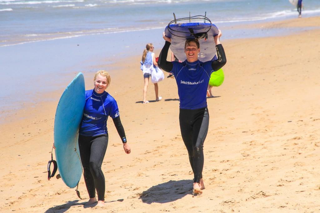 Couple surf holidays